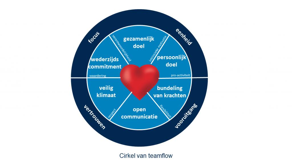 Cirkel van teamflow