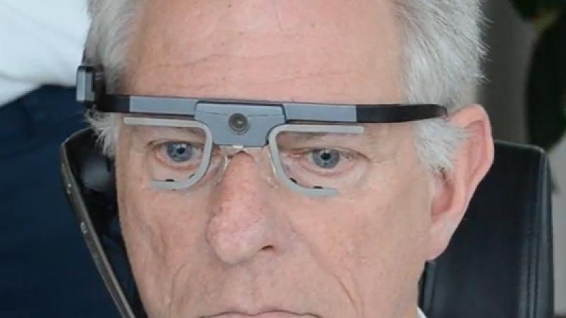 Zicht op camerabeelden door eye-tracking